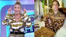 Lívia Andrade usa look estampado e é comparada com Agostinho