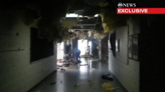 Video Inside Oklahoma School During Tornado
