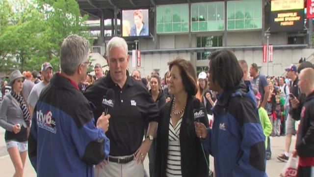 Ind. Gov. Mike Pence ready for race day