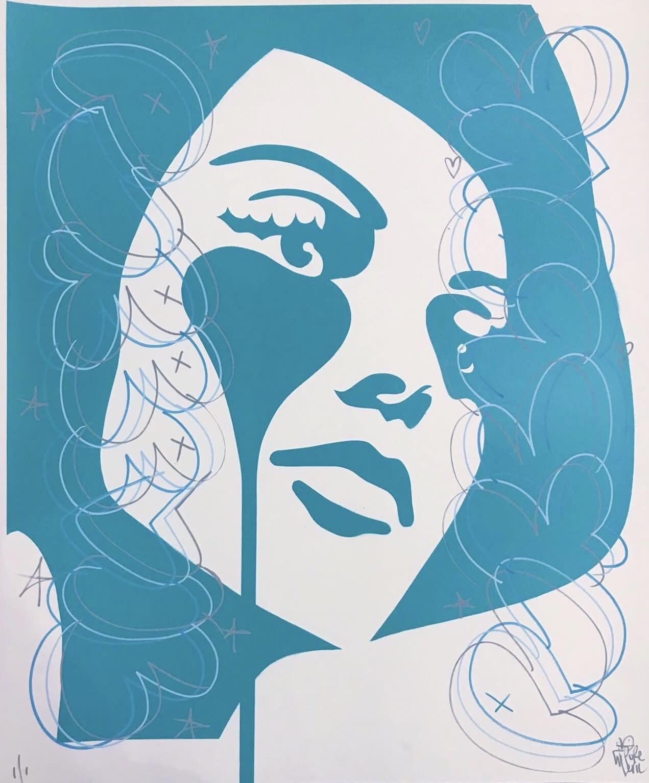 'Triple pen madness, Sophia Loren' by Pure Evil