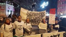 Domestic violence protesters target Fifty Shades Darker premiere