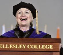 Hillary Clinton repeatedly tweaks Trump during a college commencement address