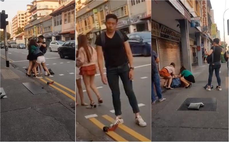 WATCH: Lone guy tries to stop 4 women from fighting, fails