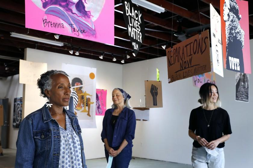 How a South L.A. gallery is turning Black Lives Matter protest signs into art