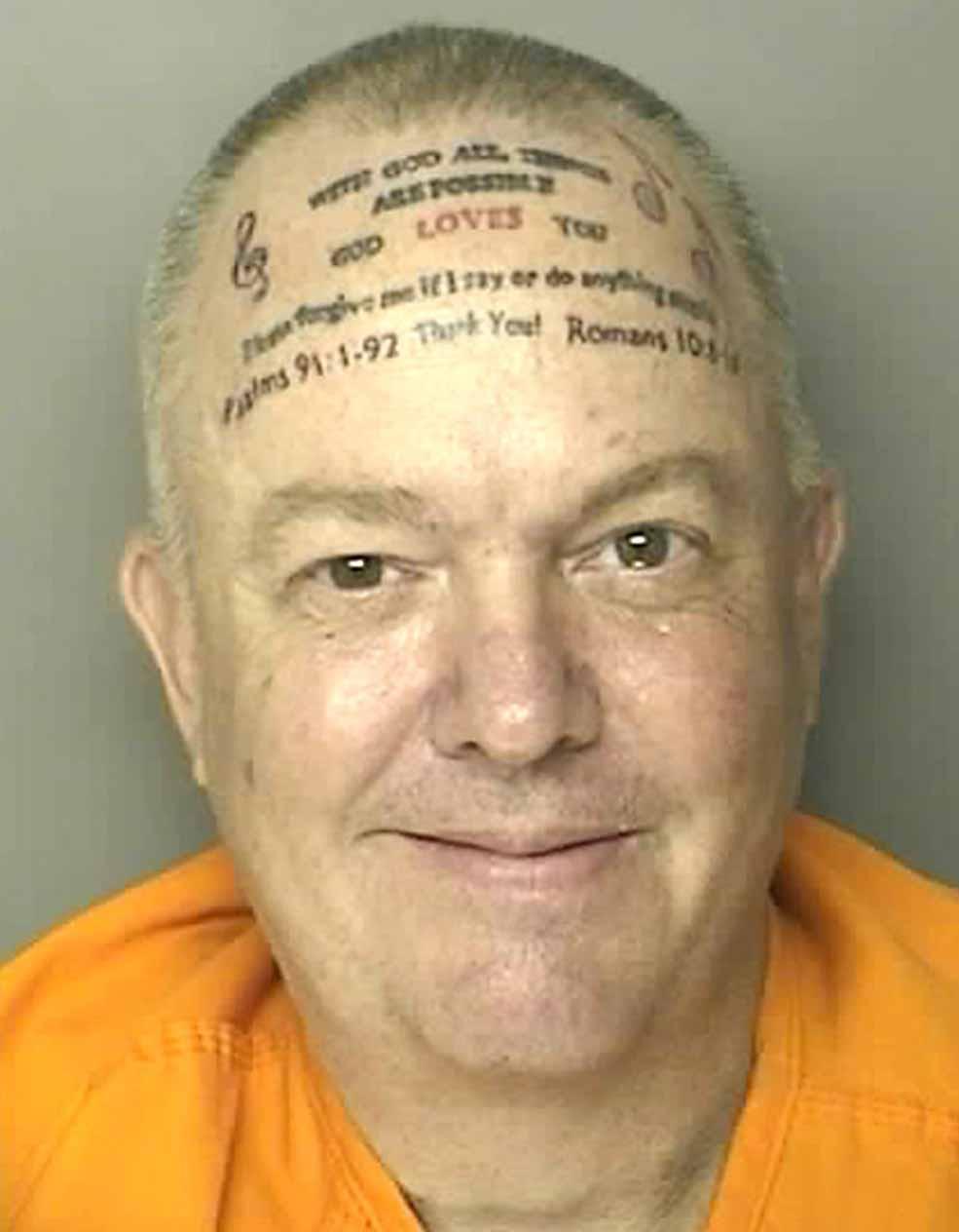 Forehead felons: The worst tattooed mugshots