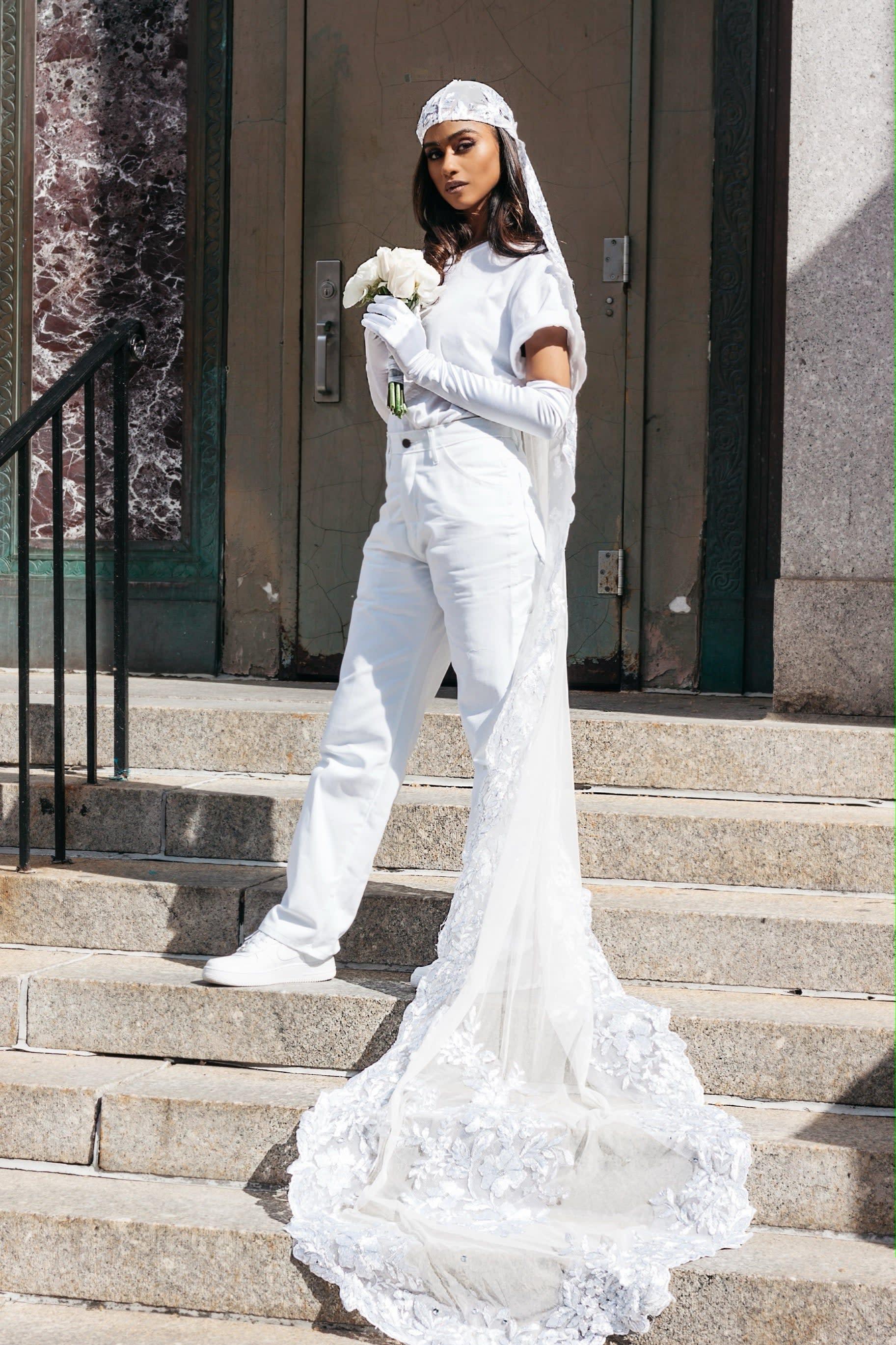 Vashtie Wore A Custom Durag Veil For Her City Hall Wedding To Honor Black Culture,Short Wedding Guest Dresses For Summer