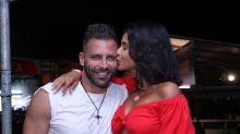 Henri Castelli e Jakelyne Oliveira curtem festa em clima de romance no Rio