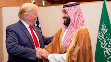 Trump touts low oil prices, as well as high oil prices, crediting his 'friend' the Saudi prince