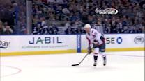 Mikhail Grabovski deflects a shot on the PP