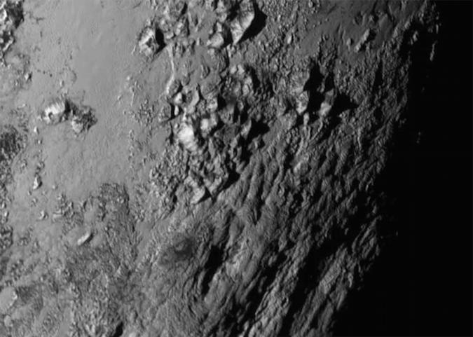 NASA's latest image of Pluto reveals icy mountains