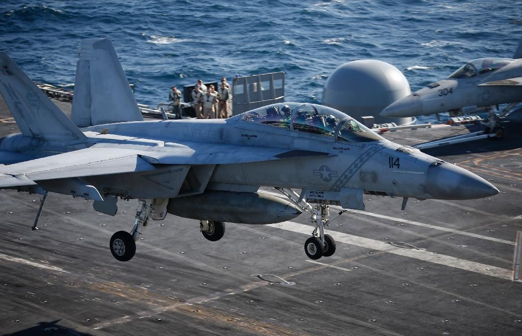 Chinese production of aluminum is threatening the US aluminum industry and the construction of various American defense vessels, such as the F/A-18 Hornet fighter jet (AFP Photo/Kim Hong-Ji)