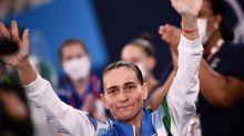 46-year-old Oksana Chusovitina competes in final vault of Olympic career
