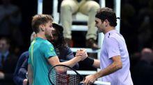 Goffin shocks Federer, faces Dimitrov in ATP Finals decider