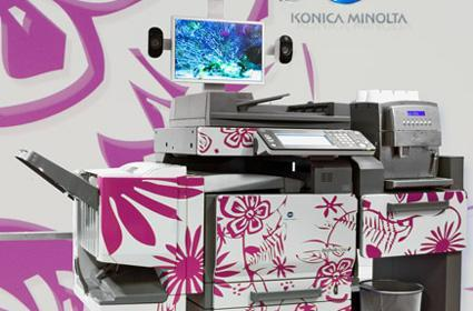 "Konica Minolta's coffee-making ""bizhub of the future"""