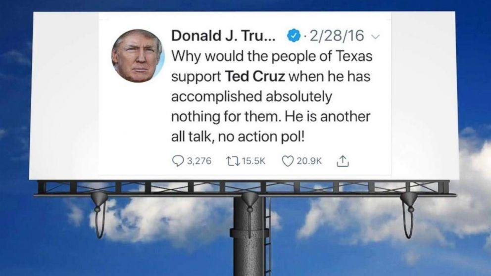 David Hogg and activists raise thousands for anti-Ted Cruz billboard featuring Trump tweets