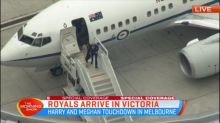 Harry and Meghan touchdown at Tullamarine airport