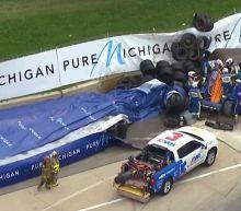 Violent IndyCar crash pauses Detroit race