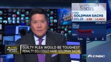 Goldman Sachs shares fall on DOJ pushing for guilty plea in 1MDB case