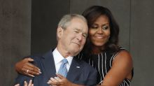 Michelle Obama says she and George W. Bush 'disagree on policy' but their 'values are the same'