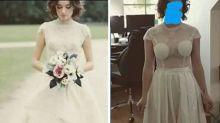 Jovem compra vestido de noiva online e recebe peça diferente