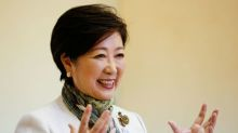 Tokyo's female governor takes on Japan's old-boy network, but denies run for PM