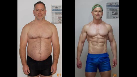 Man loses 40 pounds, gains a six-pack and $50,000