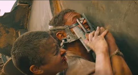 Charlize Theron and Tom Hardy in <em>Mad Max: Fury Road</em>.