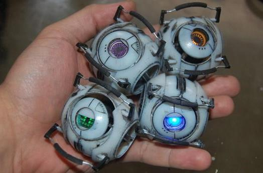 Portable Portal 2 Personality Cores are ready for adventure