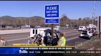 Freeway sign dedicated to woman killed by teen DUI driver