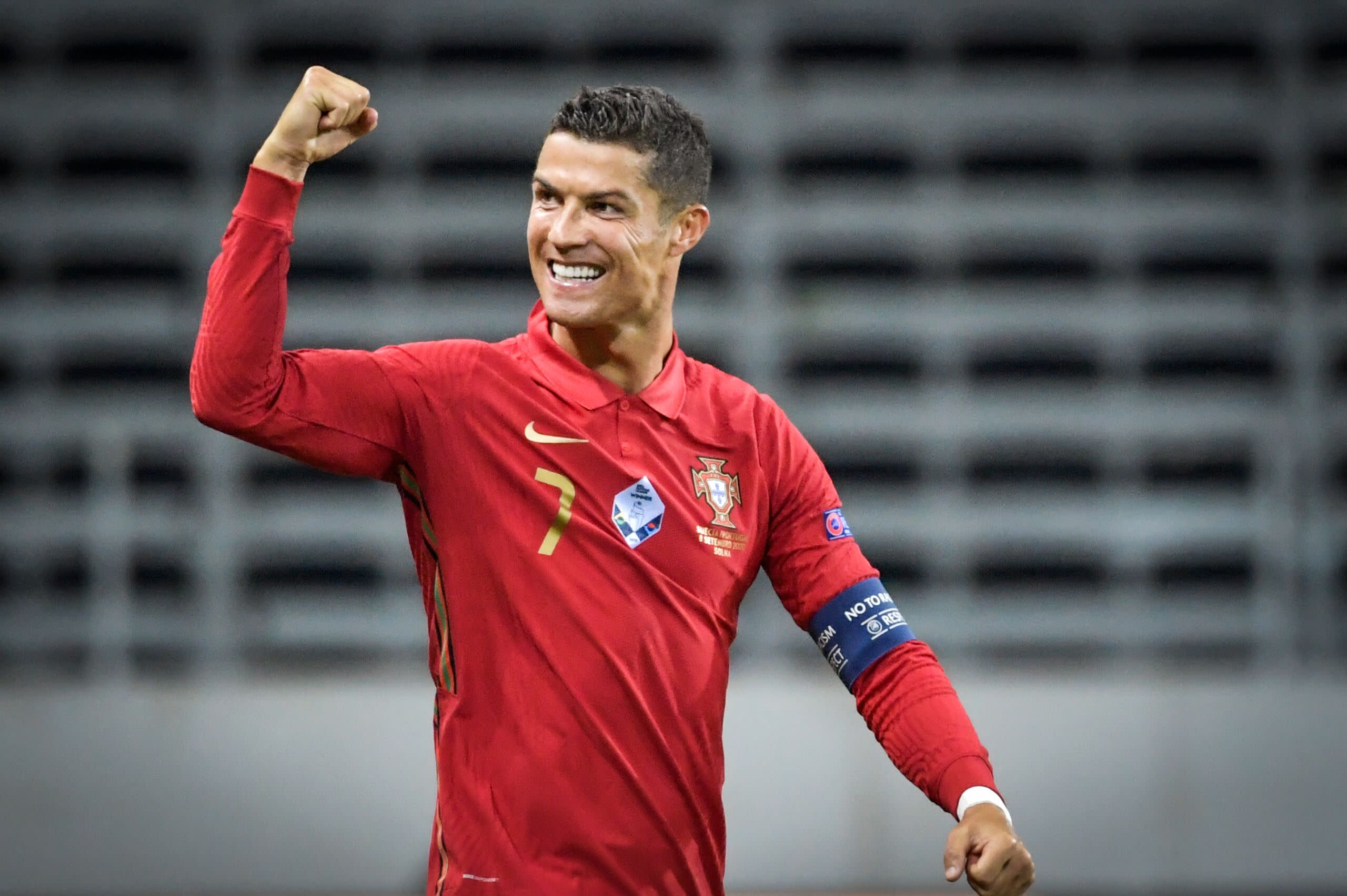 Cristiano Ronaldo scores 100th international goal in Nations League win