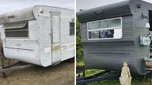 Mum transforms caravan into craft room in stunning budget DIY