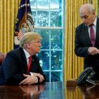 Trump says Kelly will leave chief of staff job at end of year