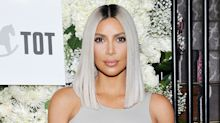 Kim Kardashian Dyed Her Hair Icy Blue, and We Can't Stop Staring