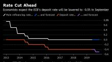 ECB Seen Cutting Rates in September as Draghi Reloads Stimulus