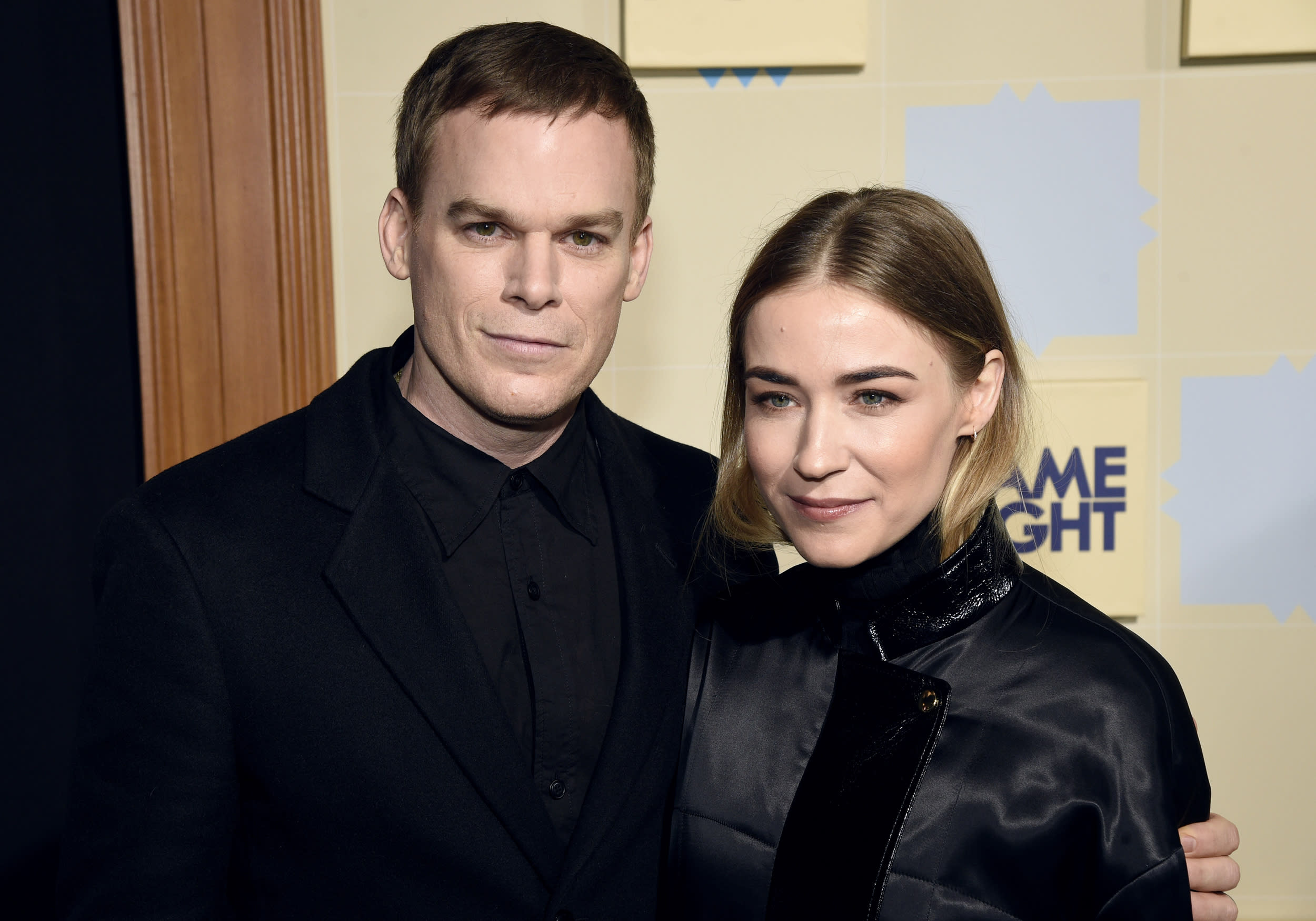 "Michael C. Hall, left, and Morgan Macgregor arrive at the world premiere of ""Game Night"" at the TCL Chinese Theatre on Wednesday, Feb. 21, 2018, in Los Angeles. (Photo by Chris Pizzello/Invision/AP)"