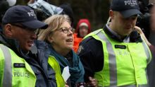 Federal Green Party Leader Elizabeth May arrested at anti-pipeline protest