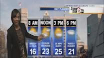 Sunday temps. remain chilly ahead of Monday snow