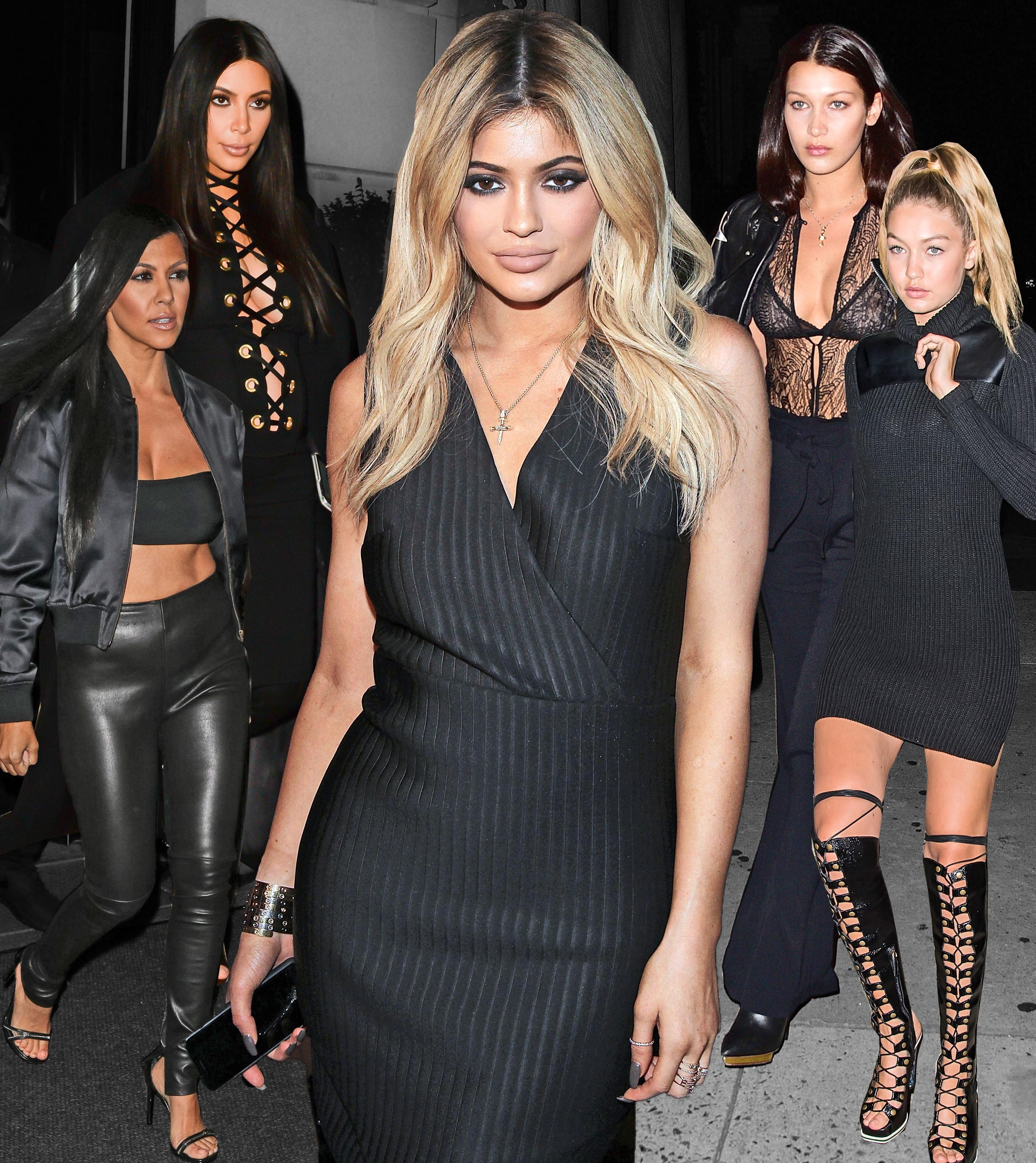 Black dress code party - Cool Kids Dress Code Kardashian Jenner Hadid Squad Wear All Black Errthang