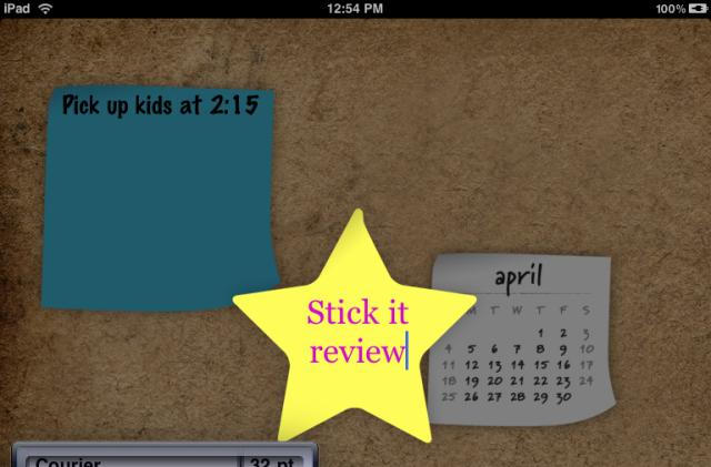 """Stick It for iPad: Beautiful """"To-Do"""" notes application"""