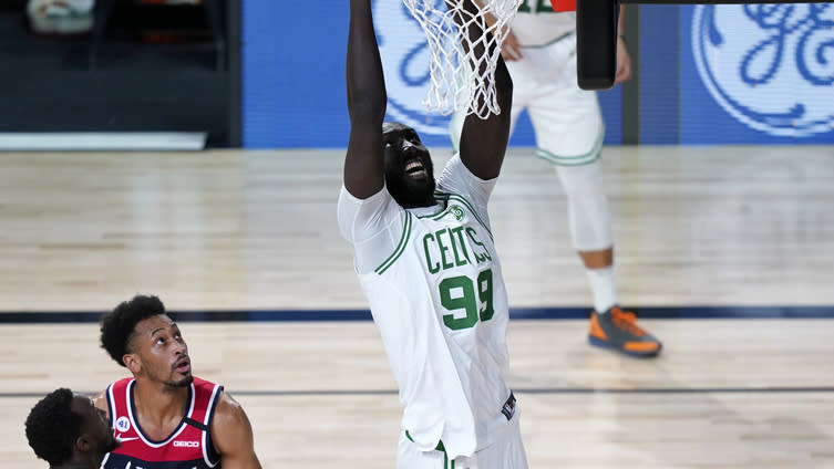 Tacko Fall stuffs Ish Smith, dunks on Wizards in Celtics' bubble finale