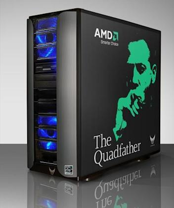 Vigor Gaming's Quadfather rig with HD 2900 XT graphics