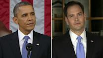 Obama's 'gauntlet' versus Rubio's GOP
