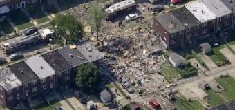 Gas explosion levels 3 Md. homes: 1 dead, 1 trapped
