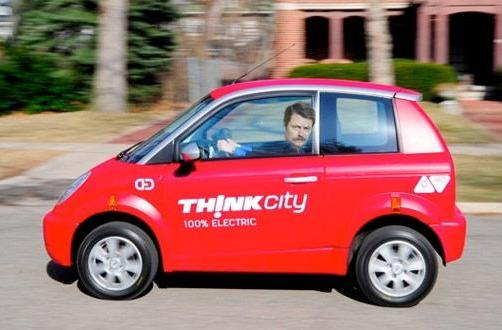 First Think City electric vehicles delivered to Indiana government, Leslie Knope calls dibs on all of 'em