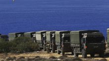 Cyprus: Villagers confront UK soldiers over tree clearing