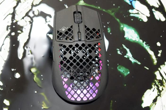 Can a gaming mouse filled with holes really be water resistant?