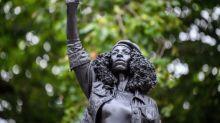 Edward Colston statue in Bristol replaced with Black Lives Matter activist sculpture in dawn ambush