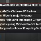 Trump Blacklists More Chinese Companies