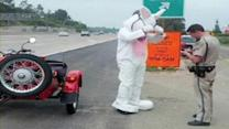 Easter Bunny gets pulled over!