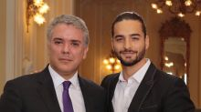 Maluma mete la pata tras felicitar al presidente de Colombia luego de que Shakira lo criticara